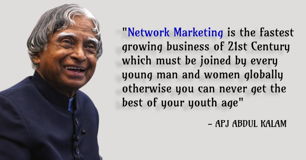 APJ ABDUL KALAM on network marketing
