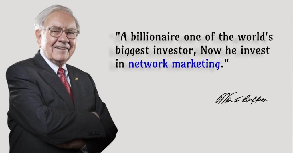 Warren Buffett on network marketing